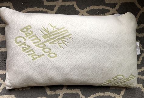 reviews on bamboo pillows bamboo grand memory foam pillow review sleepopolis