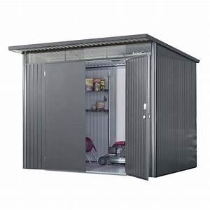 Abri de jardin en metal avant garde tlbiohort 433 m2 for Abri jardin metal leroy merlin