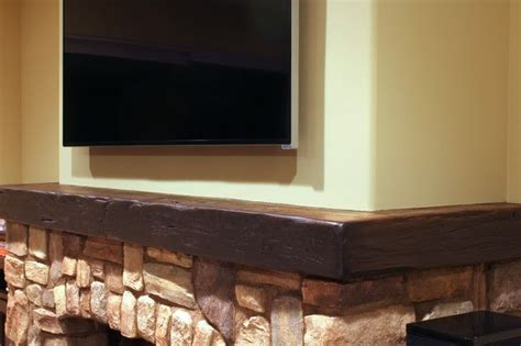 height stone fireplace   wrap  rustic