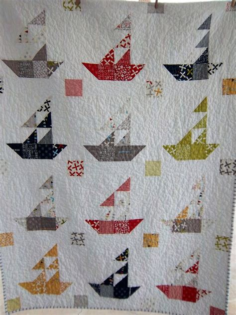 Sailboat Quilt by Dreamy Americana Sailboat Quilt By Dreamy Vintage Sheets
