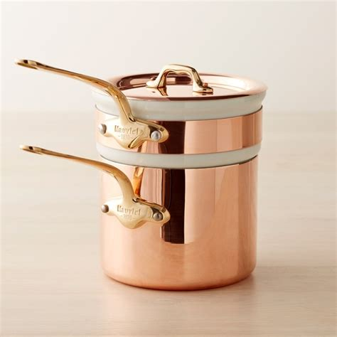 mauviel copper  double boiler  qt williams sonoma