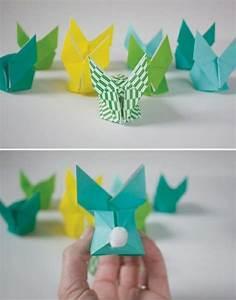 Basteln Mit Papier Anleitung : origami hase falten anleitung und inspirierende osterdeko ideen ~ Frokenaadalensverden.com Haus und Dekorationen