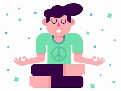 Yoga Meditation Gifs Gfycat Rad Dude Dribbble