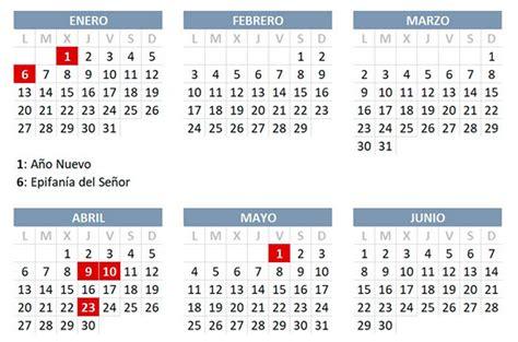 el boe oficializa el calendario laboral de consulta