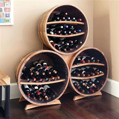barrel triple stack wine bottle racks