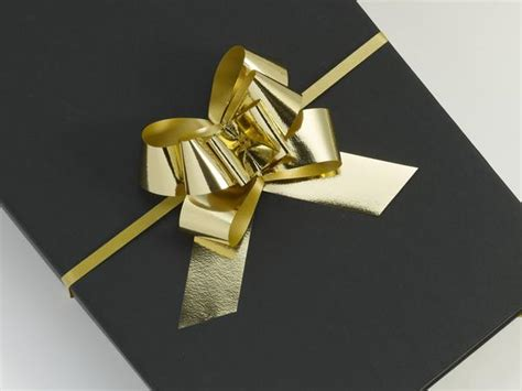 Metallic Gold Large Pull Bows 100 Kudos Twrap