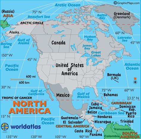 north america map map  north america north american