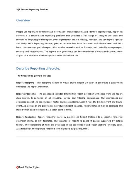 ssrs report writer resume 28 images ssrs report writer