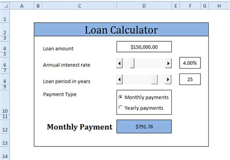 Loan Calculator In Excel Vba
