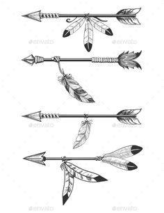 arrow illustrations | Illustration | Arrow tattoo design, Arrow tattoos, Picture tattoos