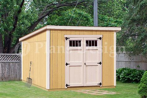 8 x 10 deluxe shed plans modern roof style d0810m