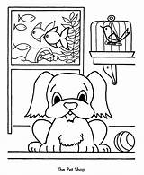 Coloring Pages Shopping Pet Christmas Sheets Sheet Clipart Pets Animals Preschool Children Clip Cartoon Kleurplaat Honkingdonkey Popular Crafts Animal Library sketch template