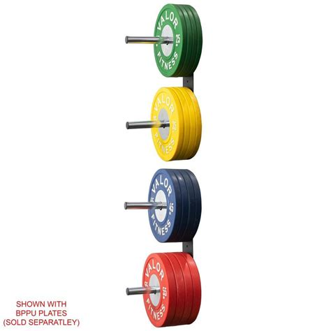 valor fitness bh   peg wall mounted bumper plate storage rack