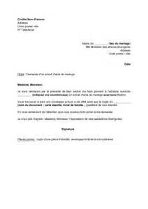 demander un acte de mariage lettre de demande d 39 un extrait d 39 acte de mariage modèle de lettre gratuit exemple de lettre