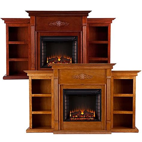 tennyson bookcase electric fireplace southern enterprises tennyson electric fireplace with