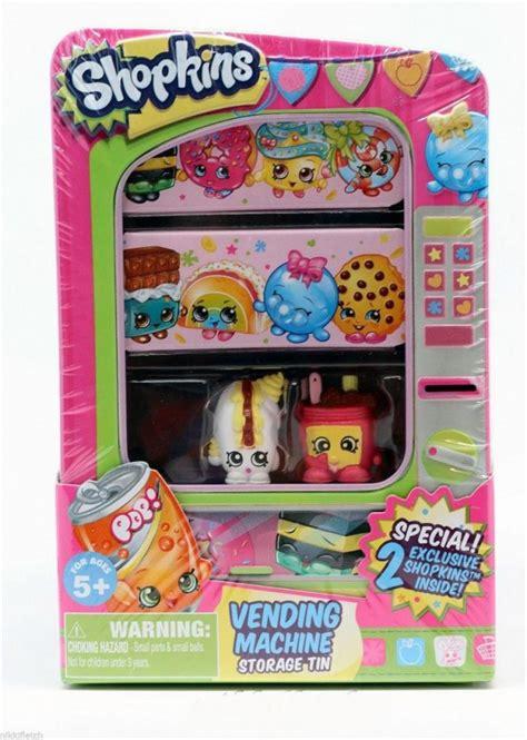 Shopkins Storage Tin Vending Machine Series 2 Toys