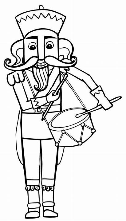 Nutcracker Coloring Printable Pages Christmas Sheets Story