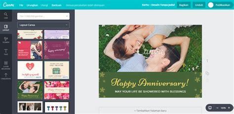 buat desain kartu ucapan anniversary pernikahan romantis