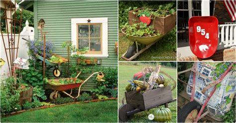cool wheelbarrow repurposing ideas  gorgeous home