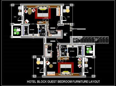house plans in suite hotel guest room furniture layout plan n design