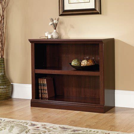 Bookcase 2 Shelf by Sauder Select 2 Shelf Bookcase Select Cherry Finish