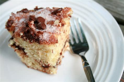 This is a delicious coffee cake. The Creative Place: Food: Chocolate Chip and Sour Cream Coffee Cake