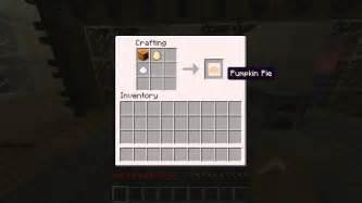 Pumpkin Pie Minecraft minecraft how to craft a pumpkin pie 8 youtube
