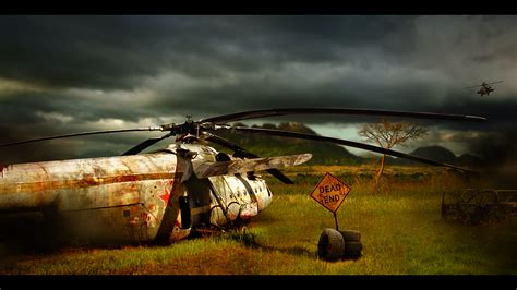 helicopter crash site wallpaper