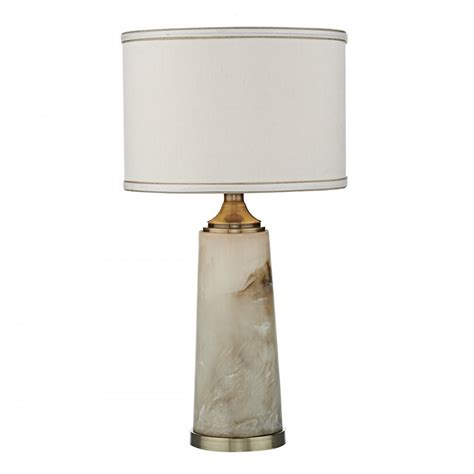 Fis4257x Fisher Table Lamp Alabaster Swirl Complete With