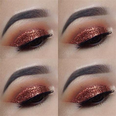 copper smokey eye nyx glitter fall makeup copper