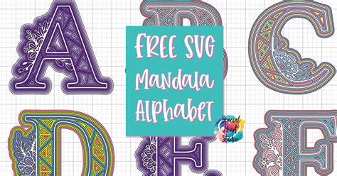Free layered mandala alphabet svg | layered mandala, cricut free, alphabet svg. FREE LAYERED ALPHA MANDALA SVG SET - Special Heart Studio