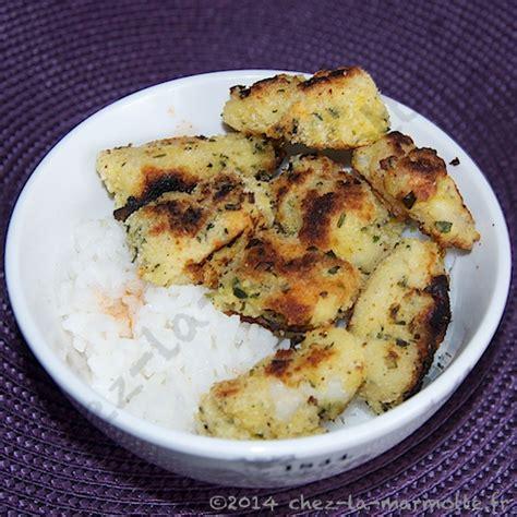 cuisiner le colin croquettes de colin en croûte d herbes marmotte cuisine