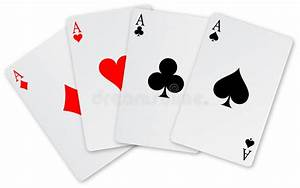 Four Aces Card Royalty Free Stock Photography Image