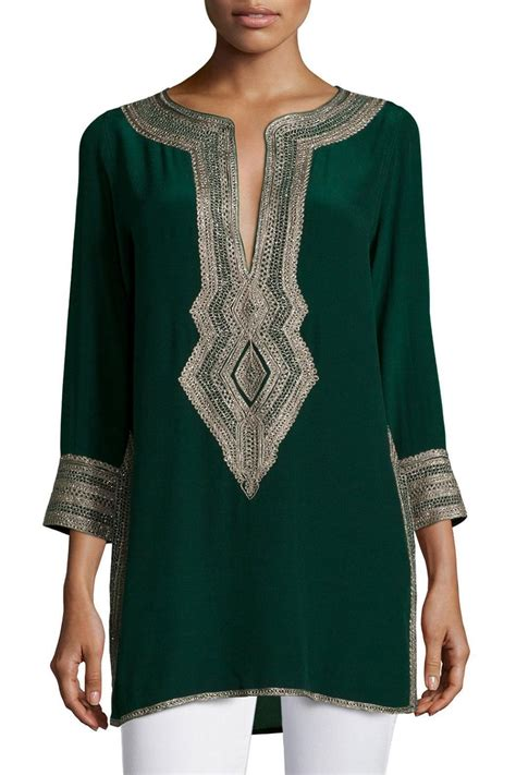 embroidery tunic calypso st barth sythia embroidered tunic from princeton