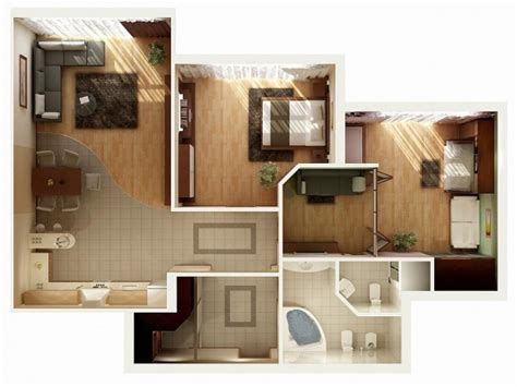 appartement avec 2 chambres idee plan3d appartement 2chambres 10