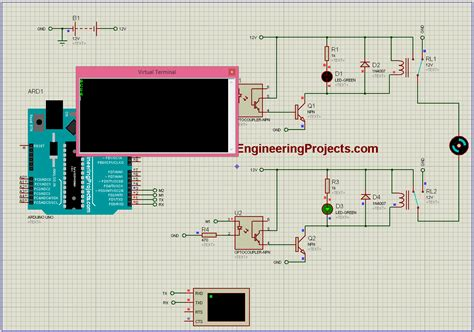 dc motor direction control with arduino in proteus the