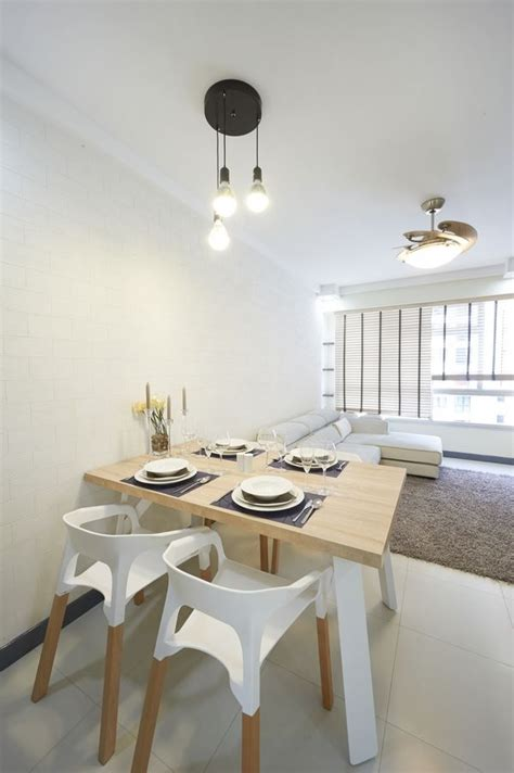 dining table  living room hdb singapore apartment