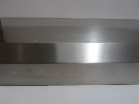 custom brushed stainless steel fireplace mantels