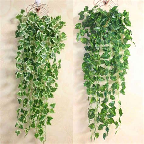 Indoor decoration 110cm artificial podocarpus tree customizable. Popular Home Decor Green Plant Ivy Leaf Artificial Flower ...