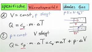 Spezifische Wachstumsrate Berechnen : spezifische w rmekapazit t eines idealen gases physik online lernen ~ Themetempest.com Abrechnung