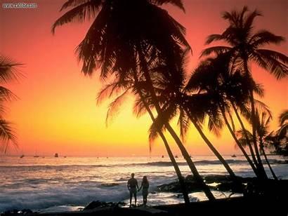 Hawaii Kona Sunset Coast Beach Islands Hawaiian