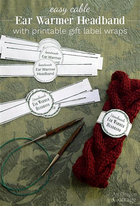 printable gift labels  easy knitted cable