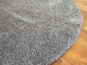 Hochflor Teppich Rund : hochflor shaggy teppich luxus feeling mix silber rund in 7 gr en teppiche hochflor langflor ~ Indierocktalk.com Haus und Dekorationen