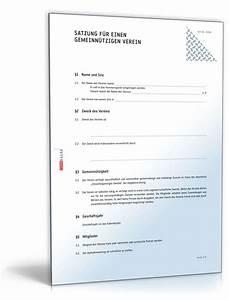 Einen Verein Gründen : satzung gemeinn tziger verein muster zum download ~ Lizthompson.info Haus und Dekorationen