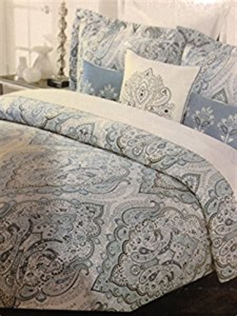 Tahari Bedding Collection by Tahari Home Blue Slate King Duvet Cover Set