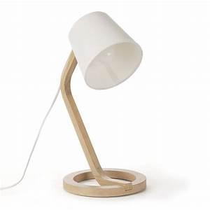 Lampe De Chevet Alinea : lampe poser scandinave en ch ne et coton h41cm mokuzai luminaires et clairage lampe de ~ Teatrodelosmanantiales.com Idées de Décoration