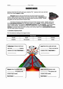 U0026 39 Igneous Rocks U0026 39  Geology Worksheet Printable Pdf Download