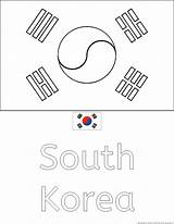 Coloring Flag Korean Korea Country Flags Drawing Pages South Popular Getdrawings Coloringhome sketch template