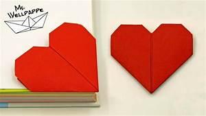 Herzen Basteln Mit Kindern : origami herz falten als lesezeichen muttertagsgeschenke basteln mit kindern youtube ~ Frokenaadalensverden.com Haus und Dekorationen