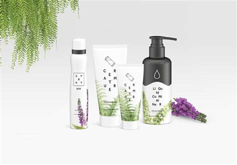 Set of cosmetic bottles design. Free Set of Cosmetics Tins and Cans with a Scene (Mockup ...